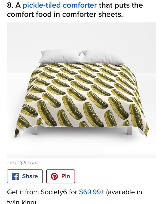 Featured in a @buzzfeed #pickle themed gift guide! I'm a bed-sweater so I can appreciate comfortable #pickling 😂