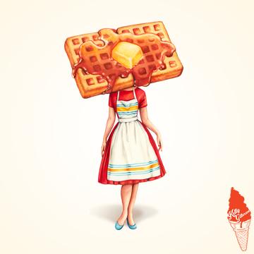 """Waffle Housewife"" 2017."