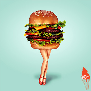 """STACKED: Cheeseburger Girl"" 2015."