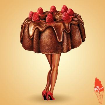 """Hot Cakes - Raspberry Bundt"" 2014."