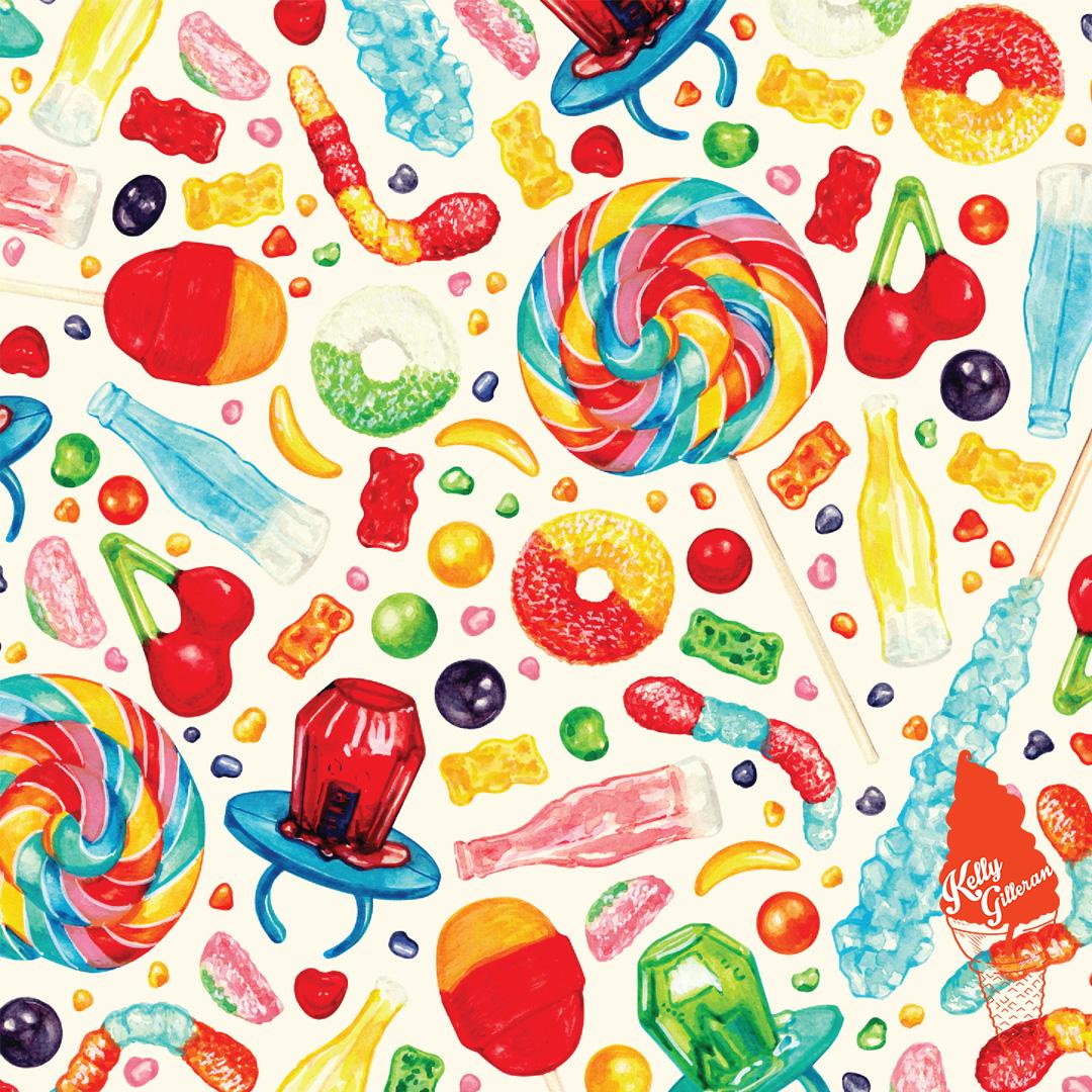 """Candy Pattern - White "" 2019."