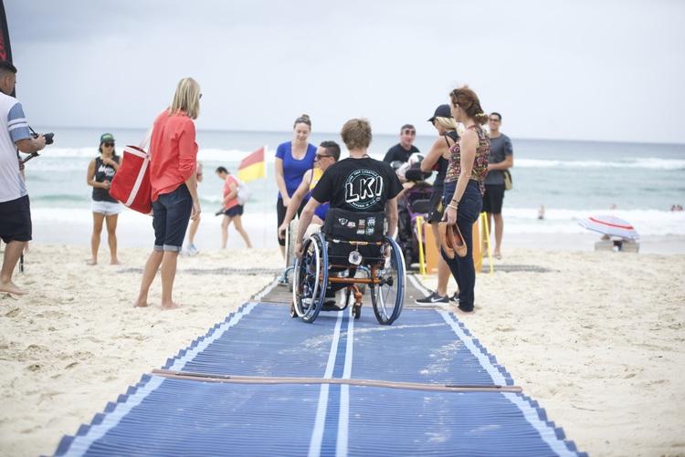 BURLEIGH HEADS BEACH   Gold Coast -  Features  Accessible Beach Matting Accessible Bathroom (SLSC) Accessible Parking Floating Beach Wheelchair Sandcruiser Beach Wheelchair