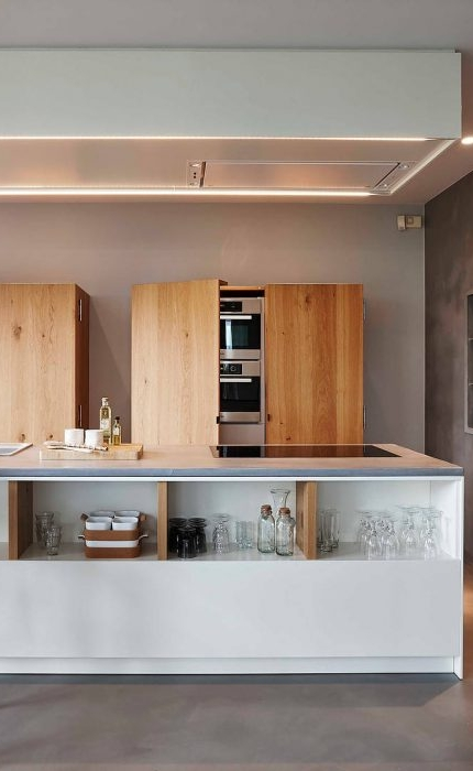 have you ever thought of hiding your oven in a cupboard?   Renovated house in Knokke, Belgium | designed by  Just'In Home Design