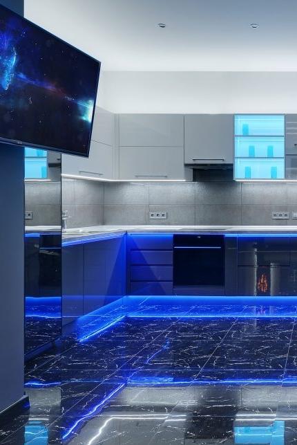 this kitchen looks like a Vodka bar!   Apartment in Kiev, Ukraine | designed by  Mariya Dolgopolova
