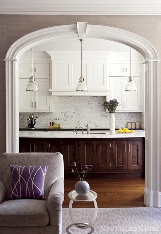 Builder and interior architecture: Ed Zimmermann, Bradford Estates | interior design by Carey Karlan, Last Detail Interior Design via  New England Home