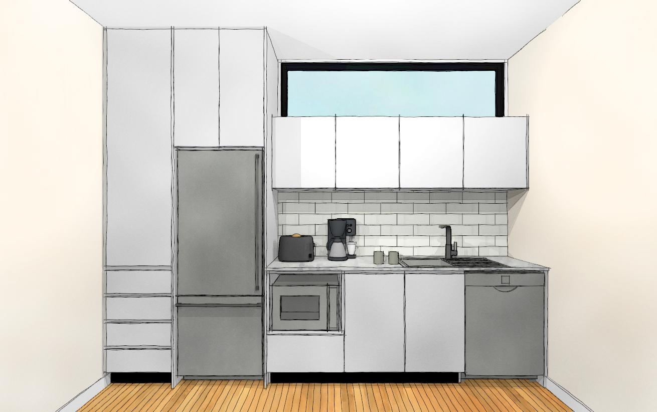 3D kitchen watercolour