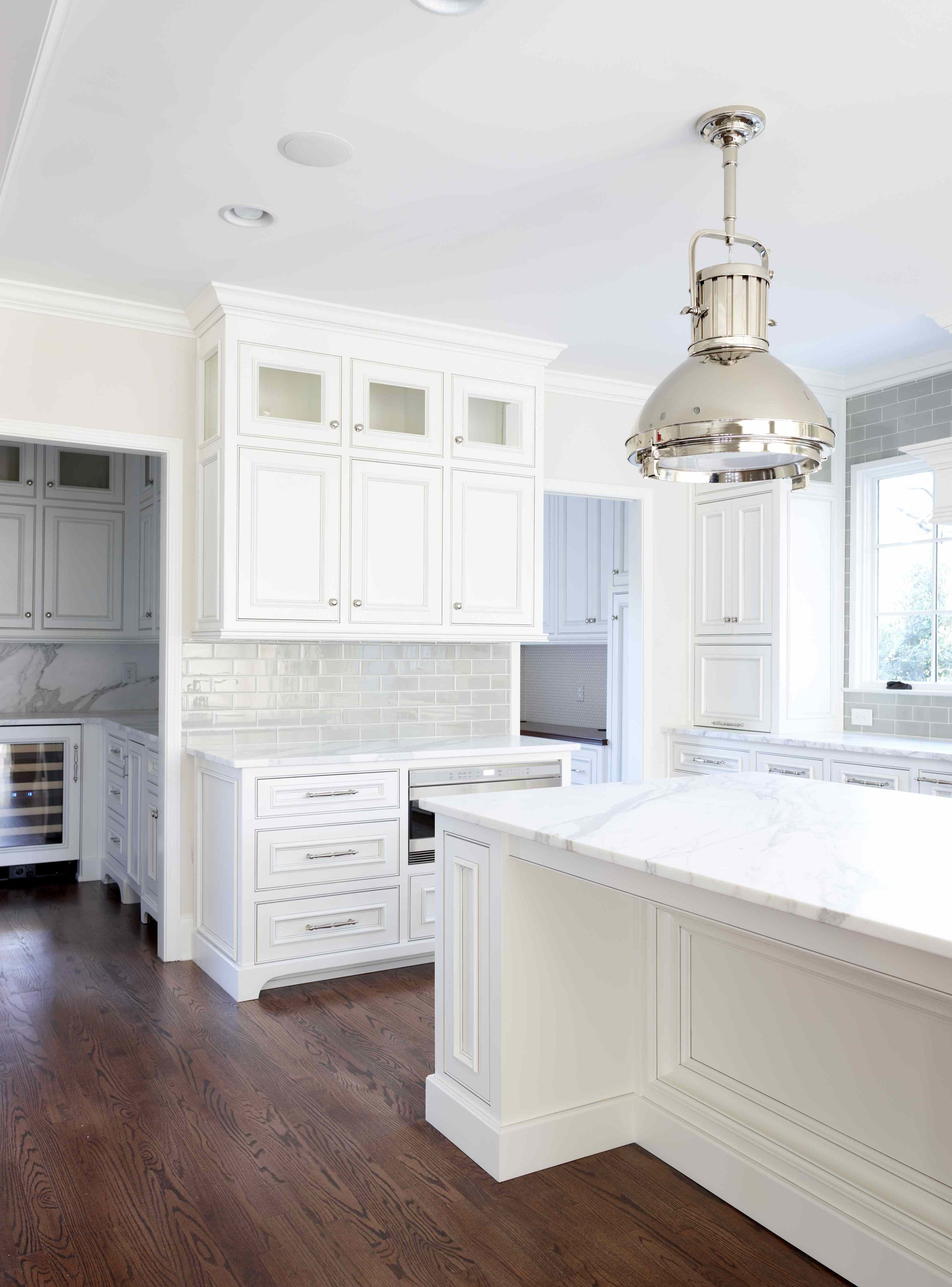 There's two pantries in this one. Is it excessive or is it really well planned? I'd love to ask the owners what they think. | designed by  L.Kae Interiors