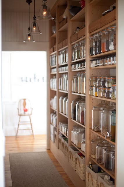 Why would you ever put a door on this pantry? It's truly beautiful, it should be shown off. | home owners:  EmersonMade