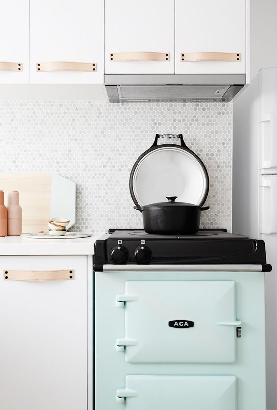 Carrara Bianco Penny Rounds tiles, cute as a button! Designed by:  Rebecca Judd  - The Style School