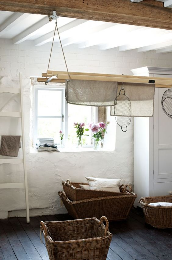 The deVOL de-luxe Laundry Maid looking fabulous in this nostalgic vintage setting.    deVOL Kitchens