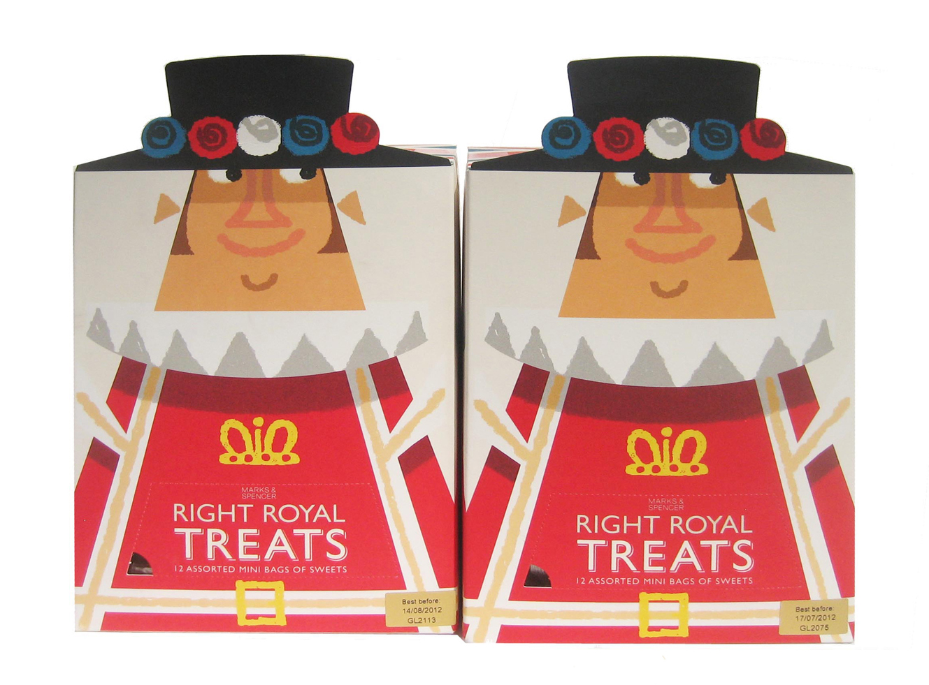 M&S Diamond Jubilee confectionery packaging