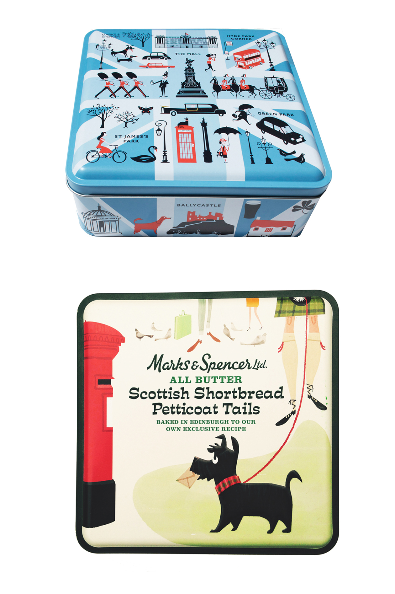 M&S Commemorative Shortbread tins