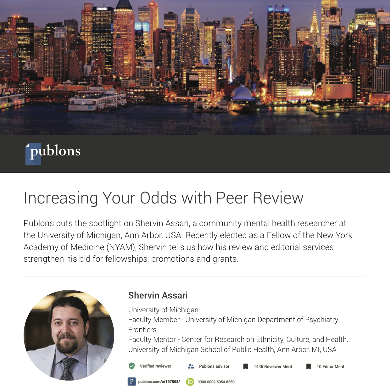 Advance your career — Publons