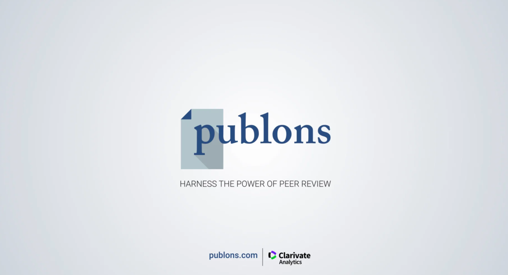 For Publishers — Publons