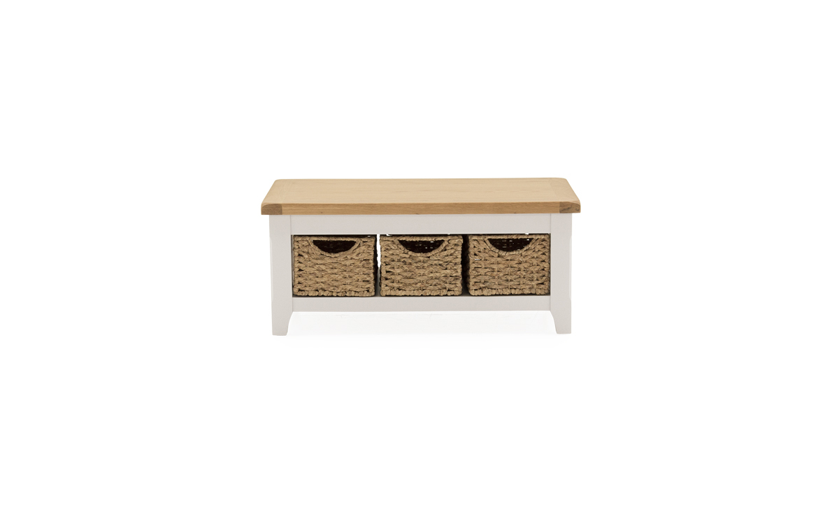 - Clemence Coffee Table With 3 Baskets — Best Furniture Online