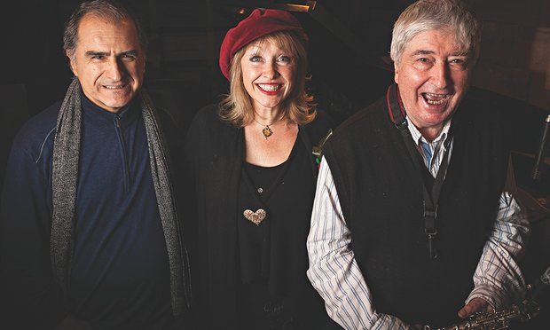 Enrico Pieranunzi (left), Tina May (centre) and the bonus of a rare appearance by jazz saxophonist, Tony Coe (right). Photograph: Justin Doherty/PR
