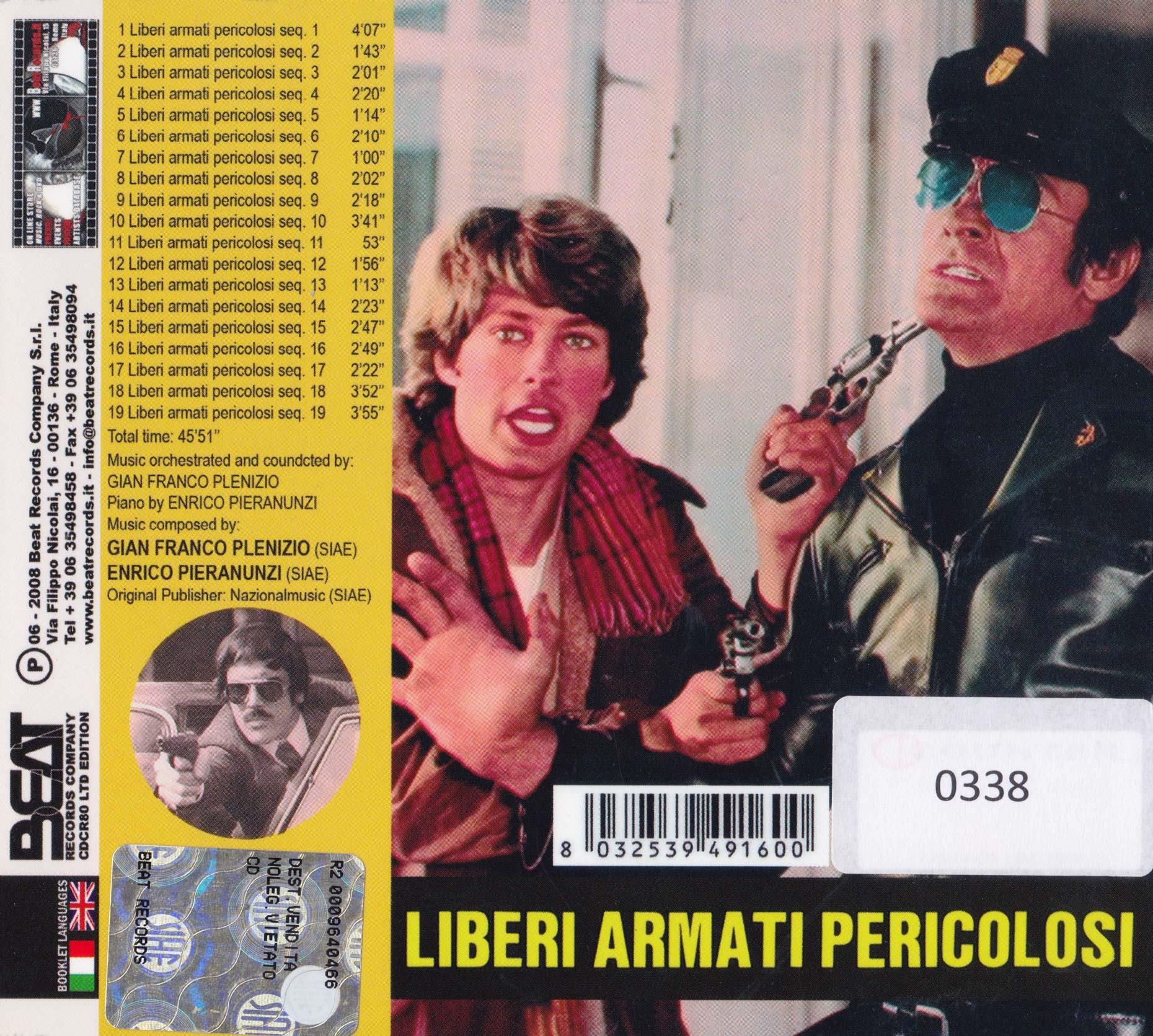 Liberi Armati Pericolosi retro cover PIERANUNZI Plenizio