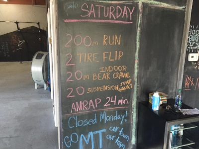 Why go to a restaurant to order food when you can have your very own WORKOUT menu!