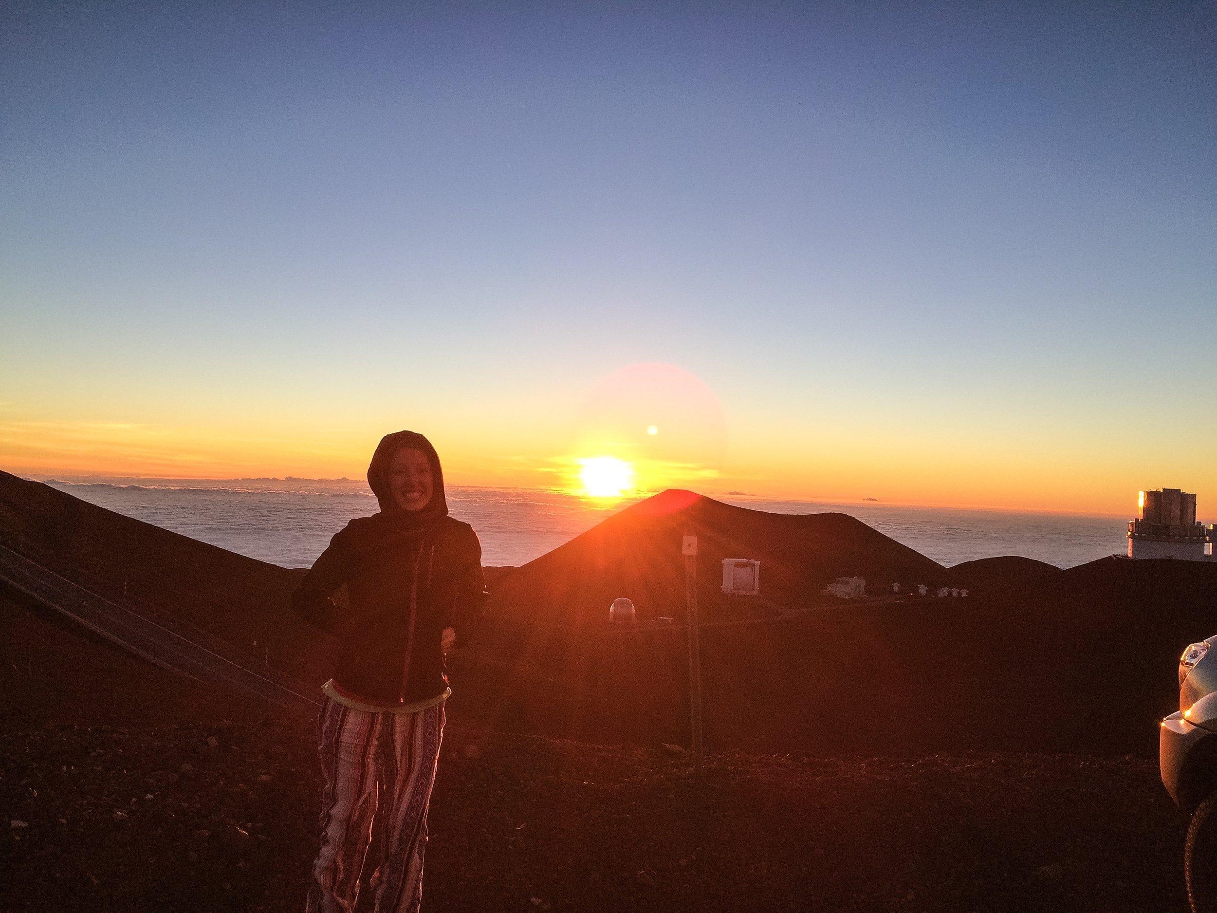 Sunset at 14,000 feet atop Mauna Kea in Hawaii