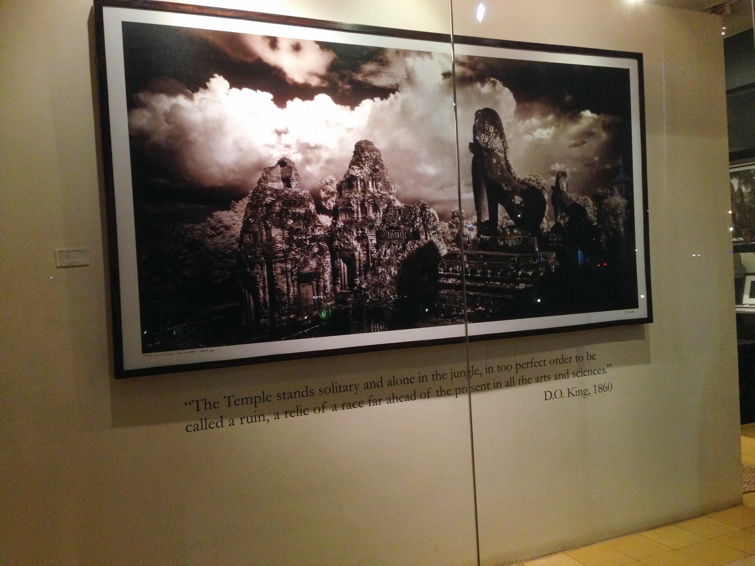 beautiful image and quote about angkor wat at the mcdermott gallery