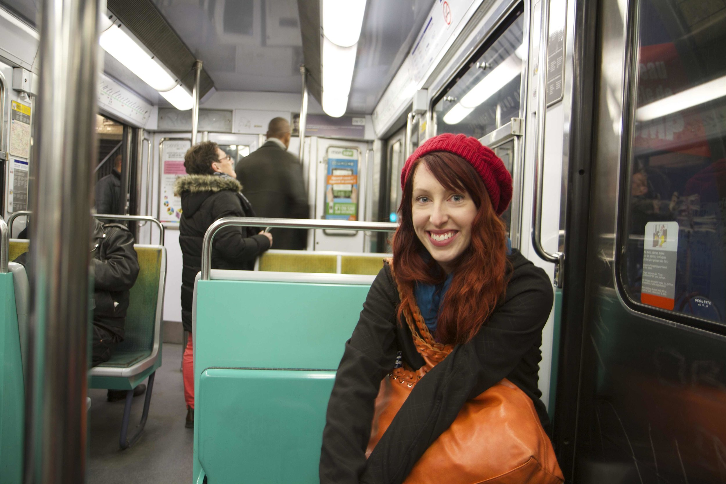 """Enjoying quiet metro rides, where i often chatted with parisians starting with a """"Bonjour"""" and a smile!"""