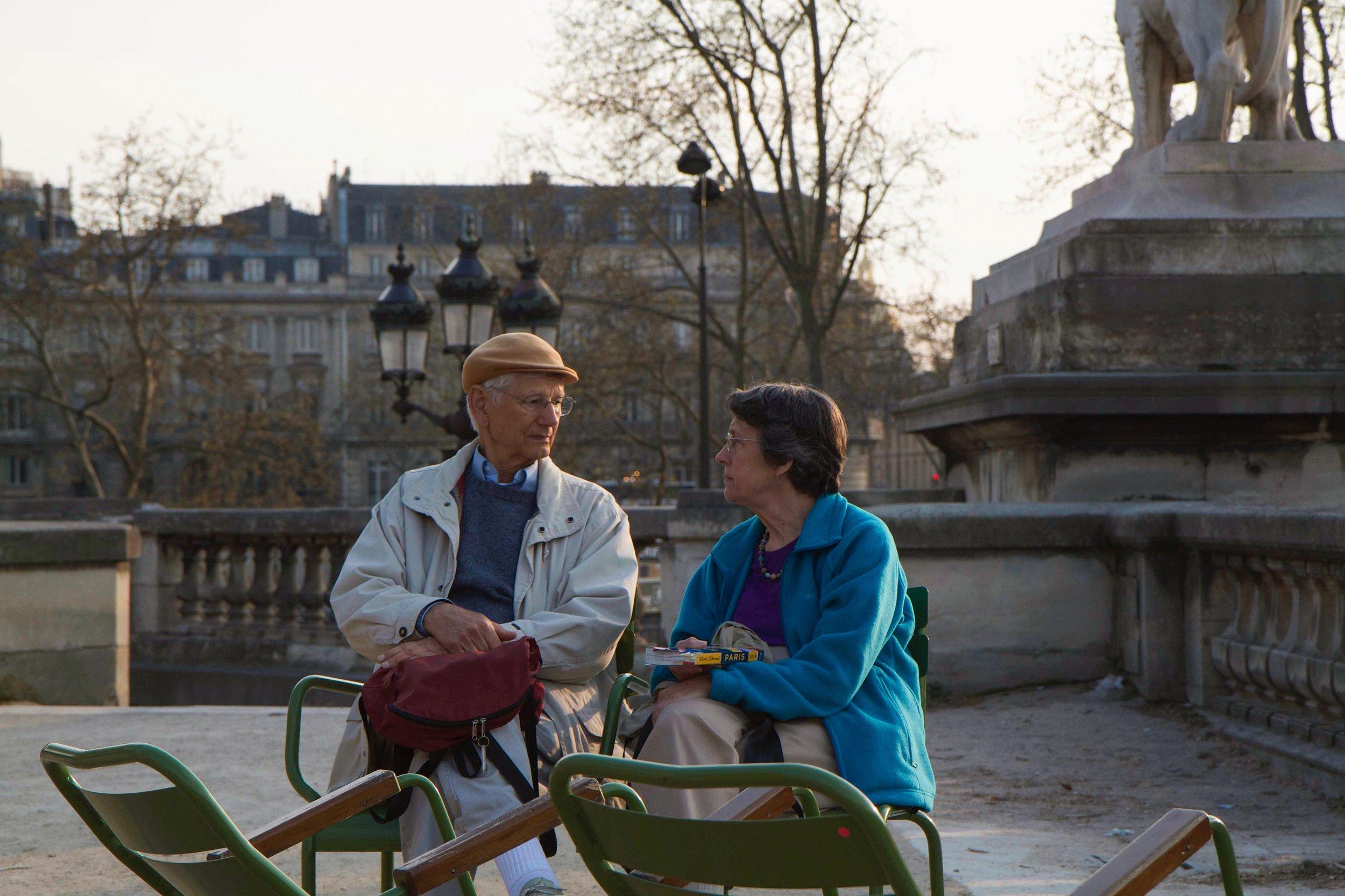 Couple at the Musée de l'Orangerie