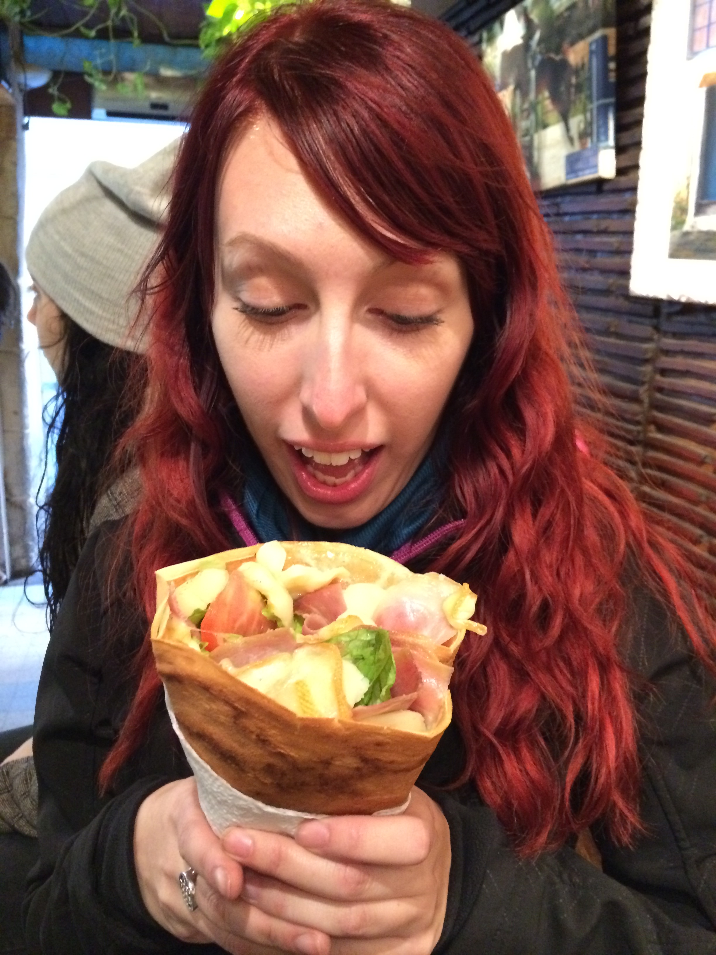 Shocked at the size & price of this amazing crêpe!