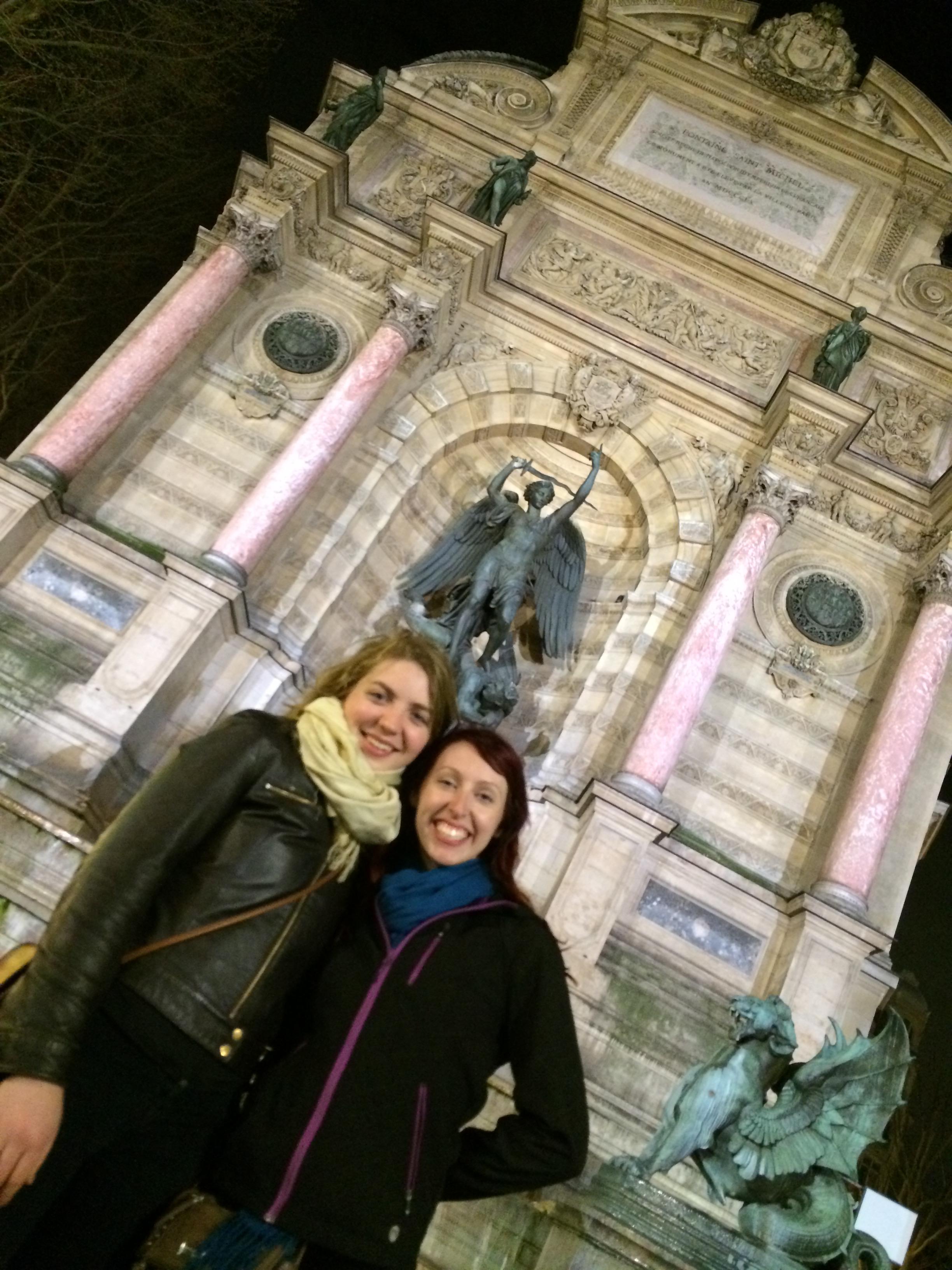 Visiting Fontaine Saint-Michel