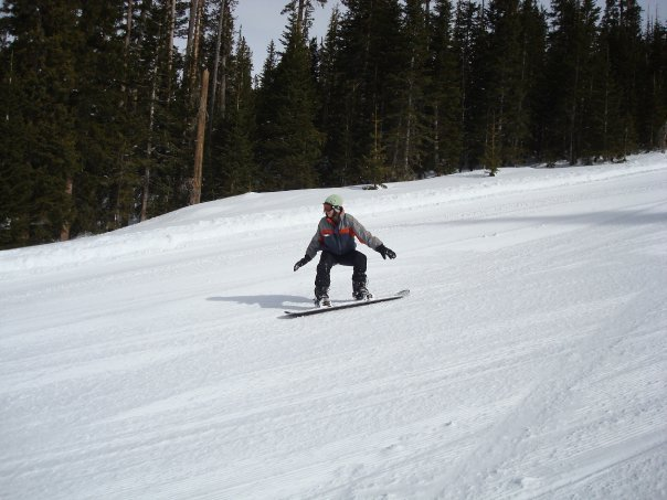 My first time snowboarding!