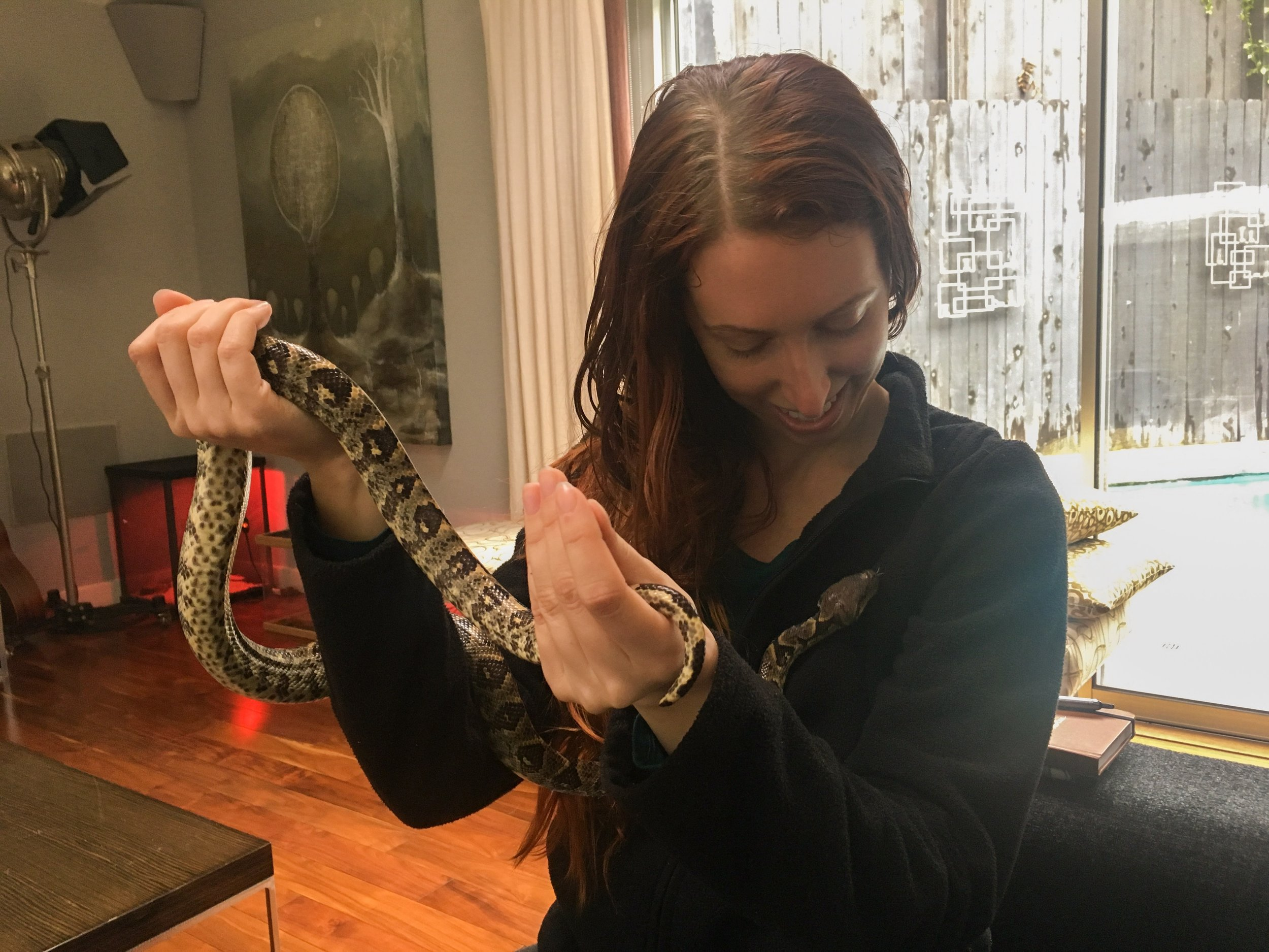 My first time holding a snake!