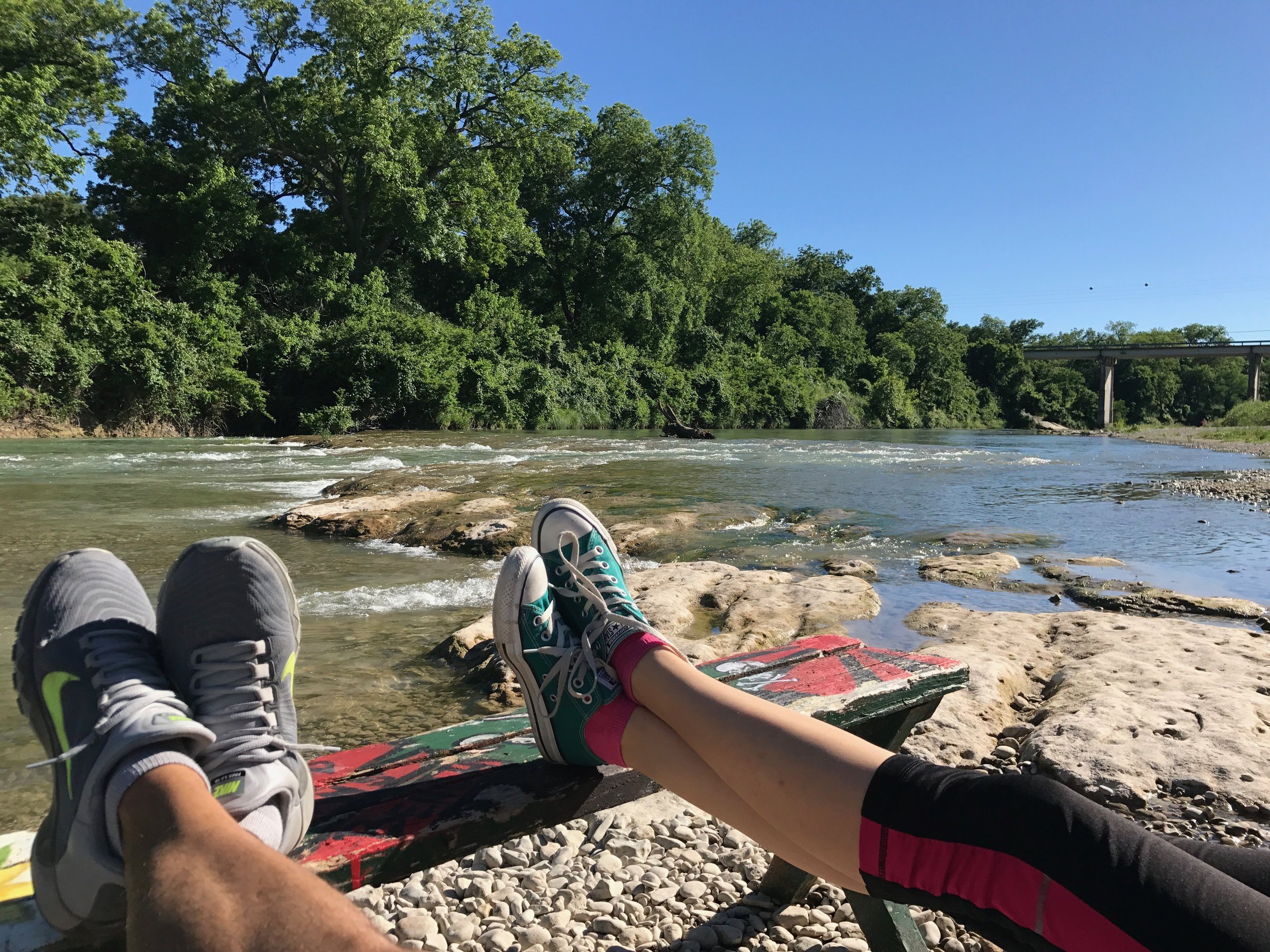 Sitting on the banks of the guadalupe river