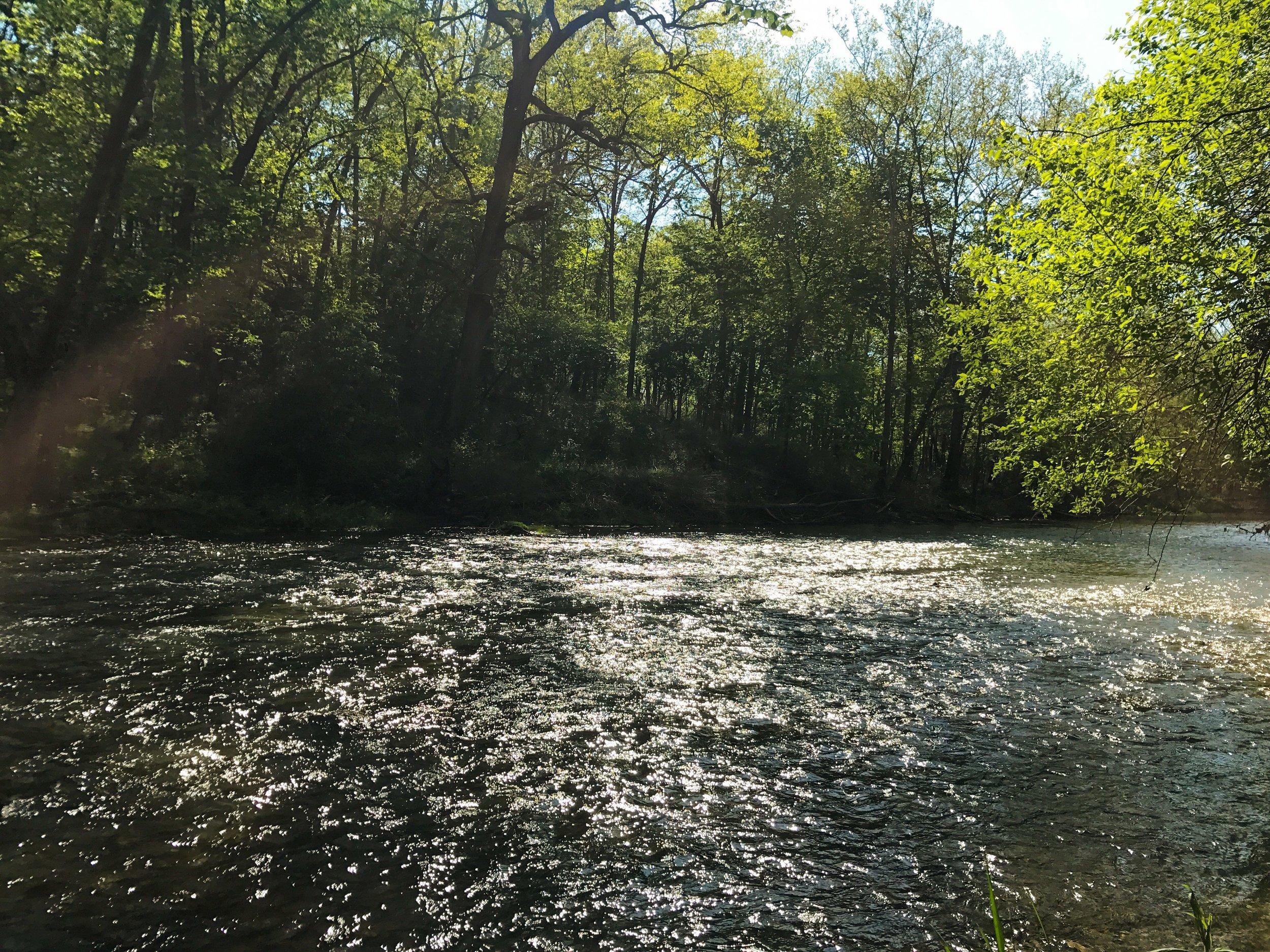 Beautiful river in John Bryan State Park