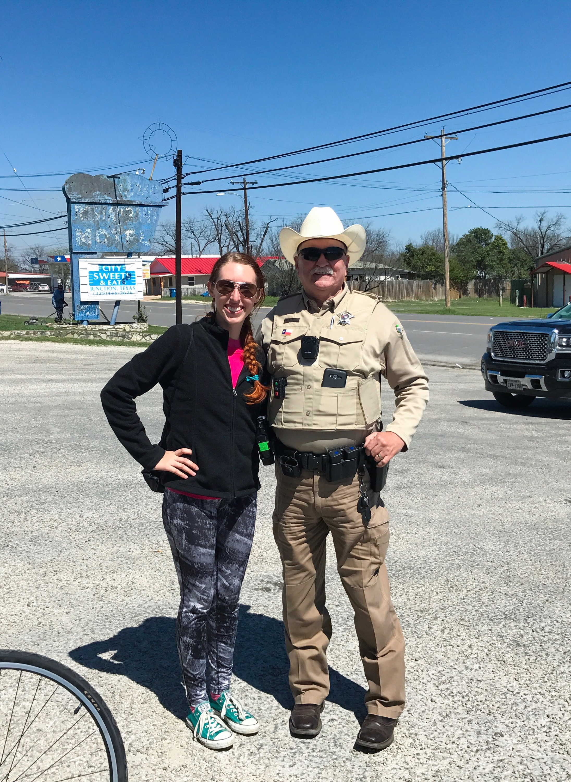 First day in town and already made friends with the Sheriff