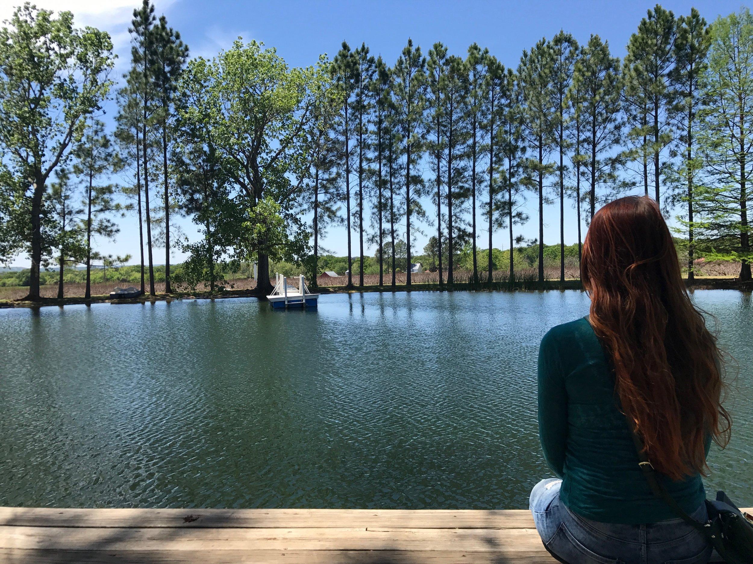 Das Peach Haus Lake in Fredericksburg