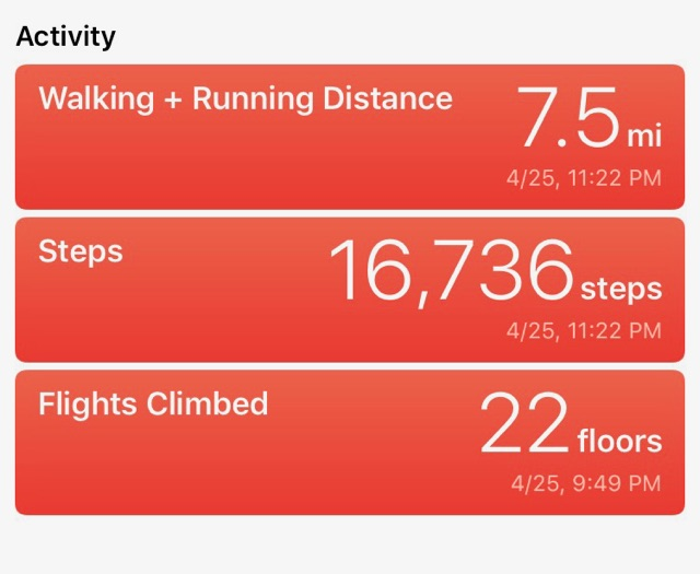 I walked almost 8 miles just on a day trip to Austin, TX!