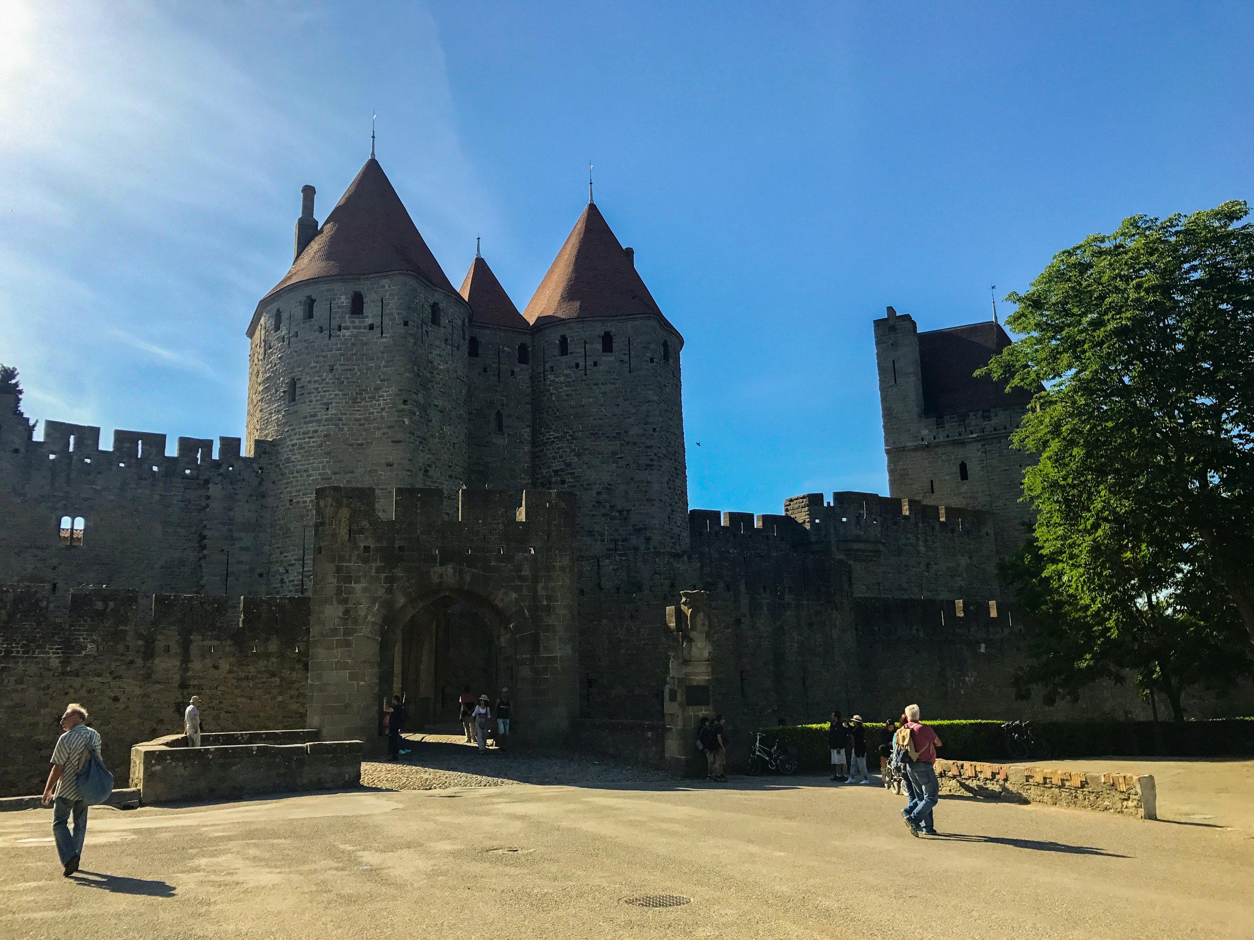 Drawbridge entrance to Carcassonne