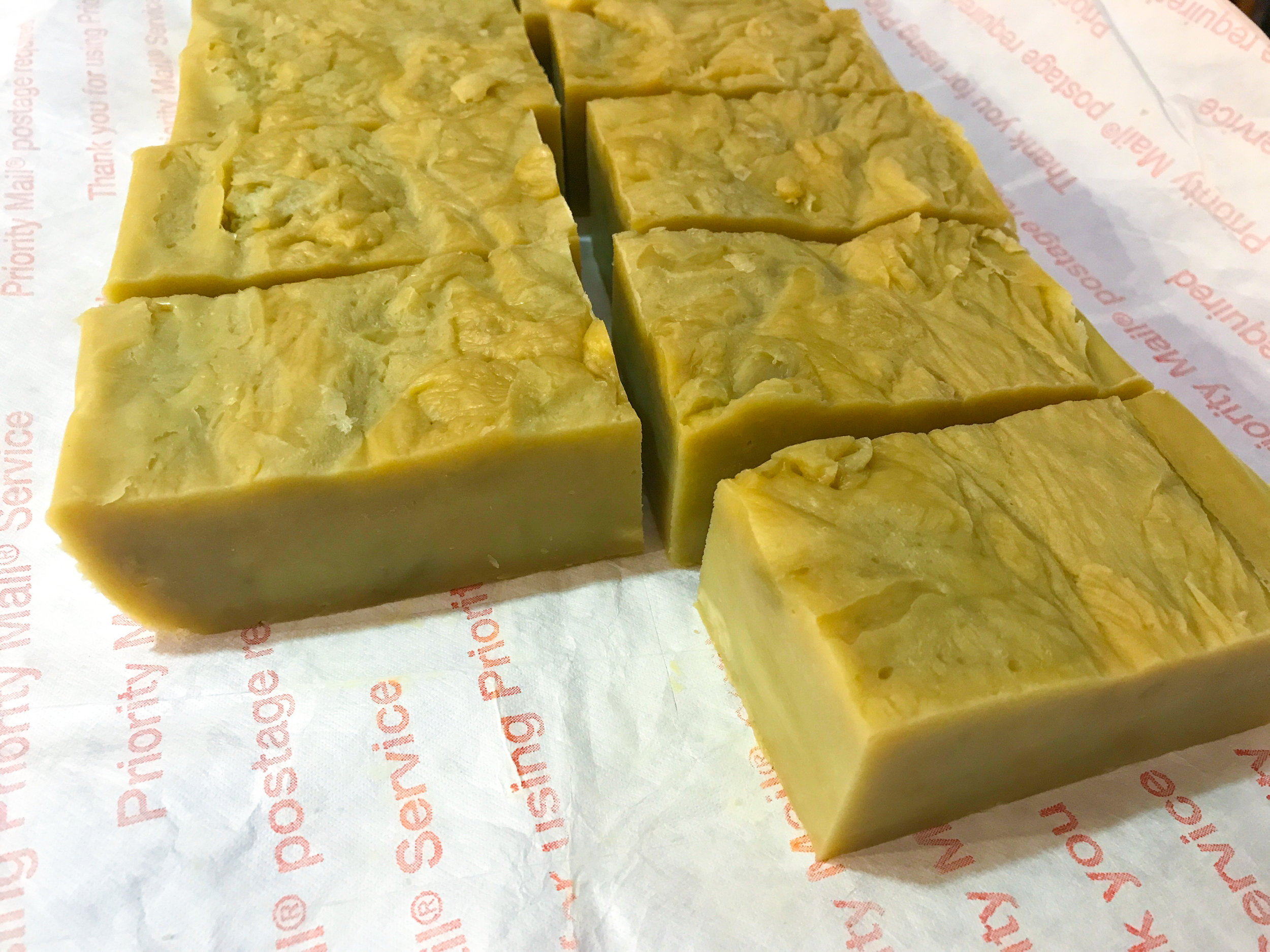 Freshly cut homemade soap!
