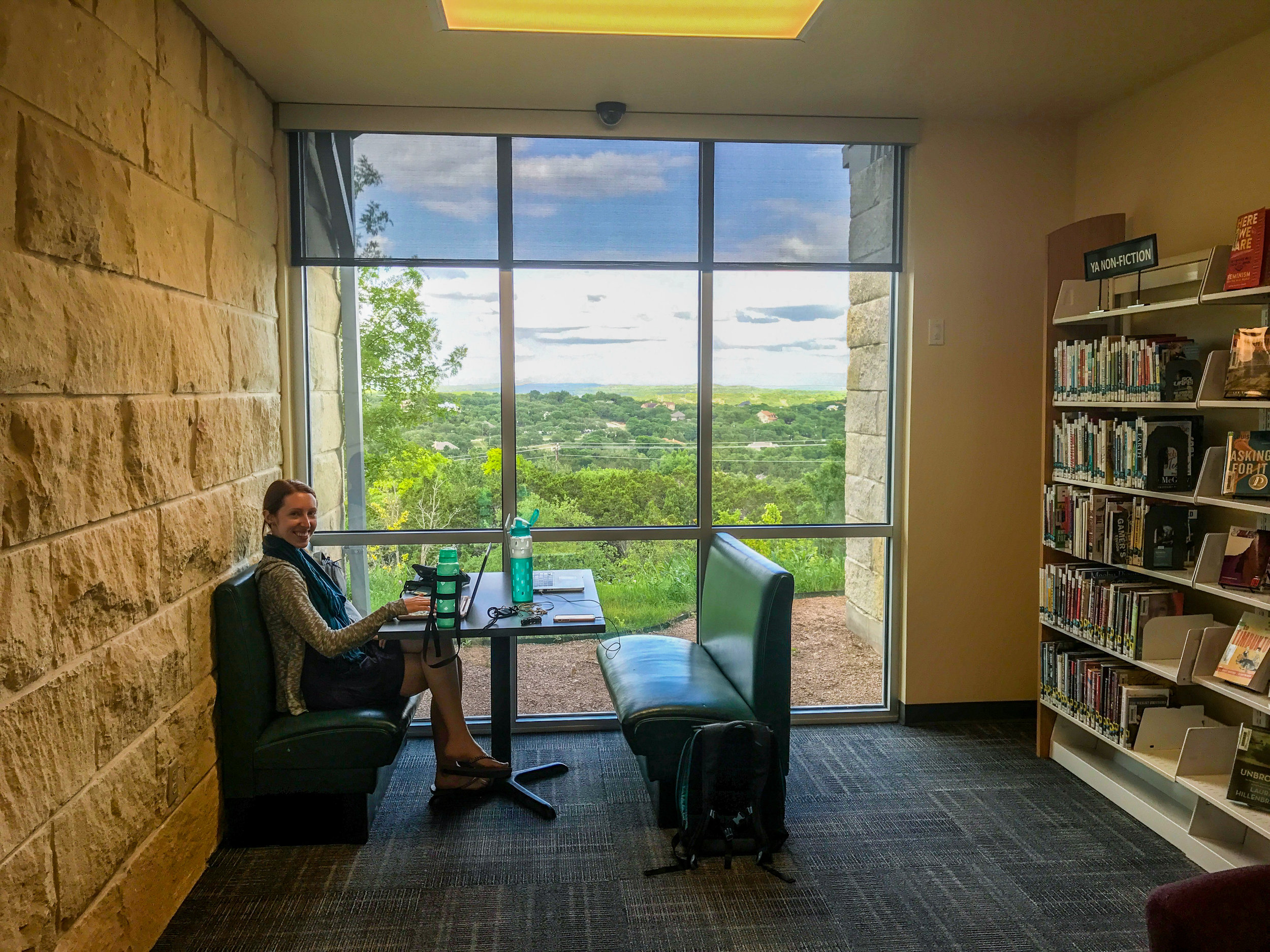 Texas library with an amazing view!