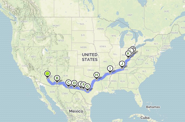 RV Trip from Arizona to Ohio