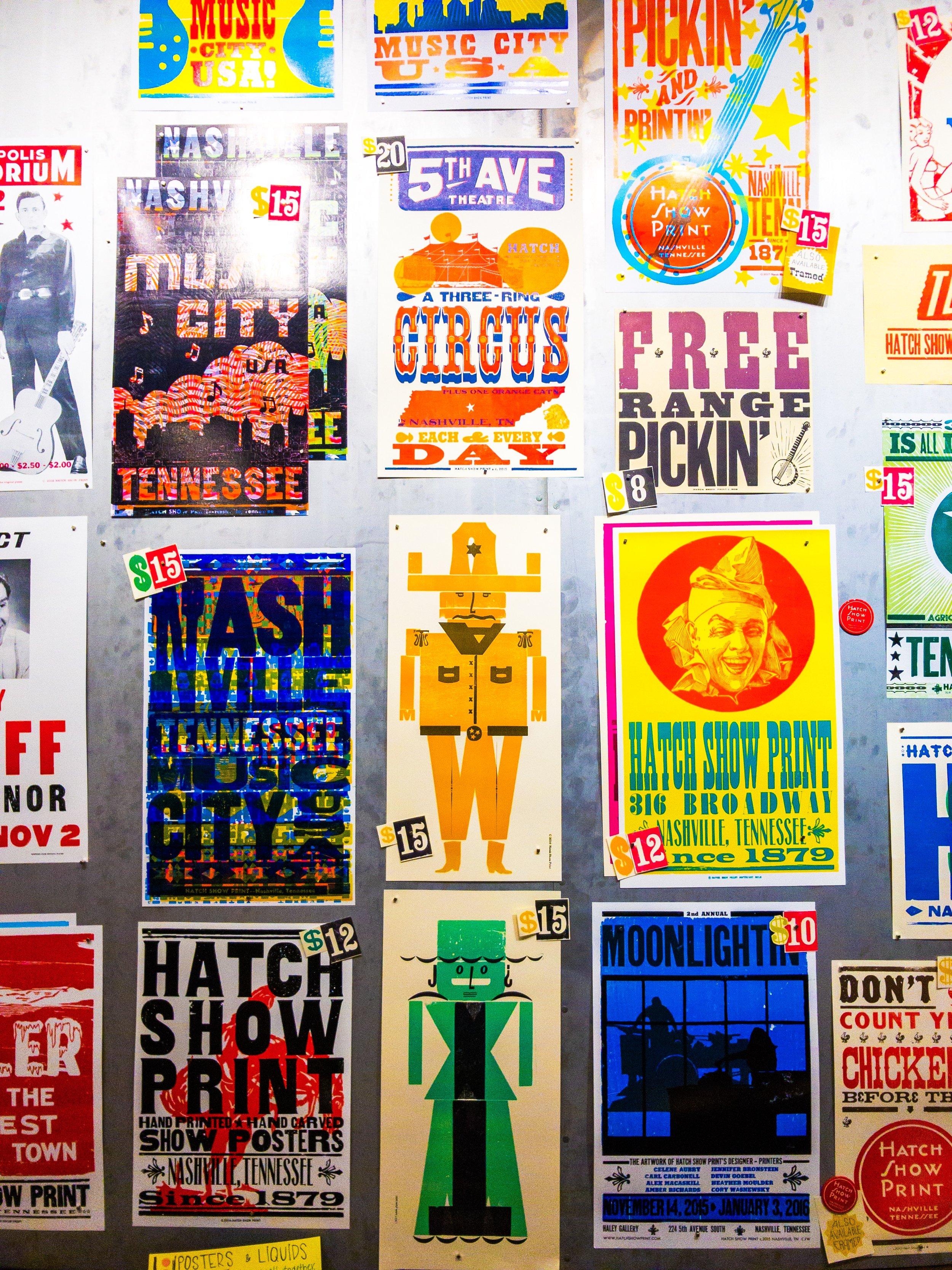 Hatch Show Print Shop Nashville Tennessee