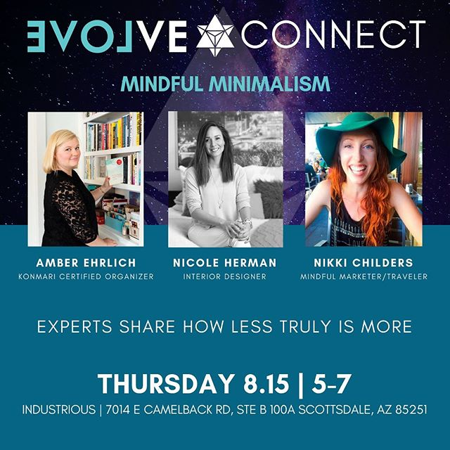 I am honored and *so excited* to get to talk about minimalism and mindfulness in marketing, traveling, and just everyday life next week with @ilovevolve! 🤩 It's a Q&A style free event, so if minimalism or mindful living interest you at all put this in your calendar for next Thursday! 😄