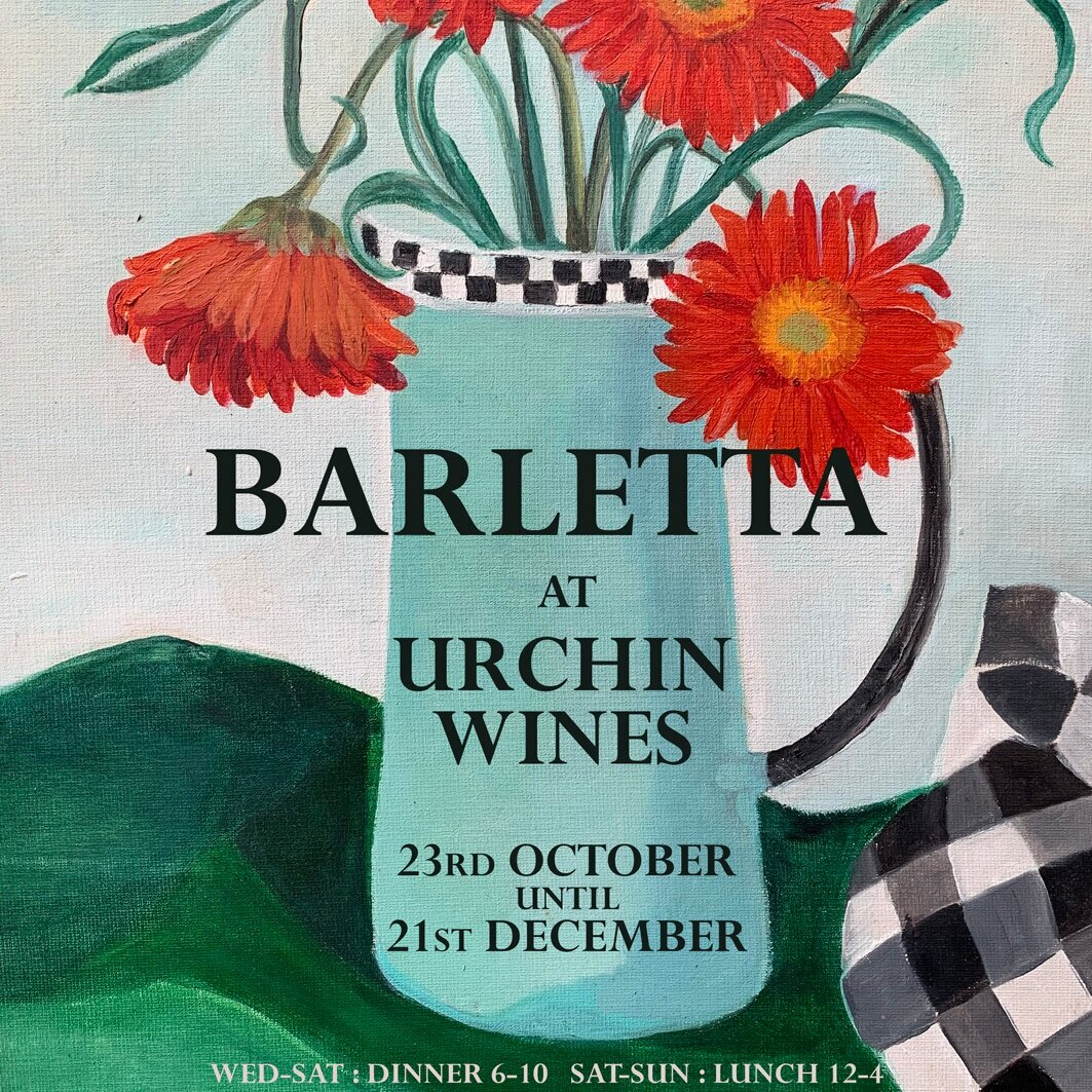 BARLETTA - 23rd October - 21st DecemberOur pals from Cafe Barletta are coming up the road into Cliftonville, retreating from the cold windy seafront and joining us for a winter of brilliant feasting!Starting on Wednesday 23rd of October and going straight through until Christmas.A wonderful a la carte menu steeped in inspiration from the Mediterranean and focussing on local British quality produce, of which we have a rich amount in Kent.We will also be hosting Christmas parties for both small and large groups. Christmas menu released shortly …..For large bookings of over 8, get in contact here.Wed - Fri : 6 - 10Saturday : 12 - 4 & 6-10Sunday : 12 - 4For bookings click the link below….https://www.resdiary.com/restaurant/barletta