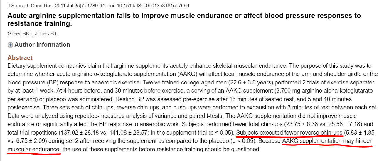 Journal of Strength and Conditioning Research. V. 25:7. (2011).