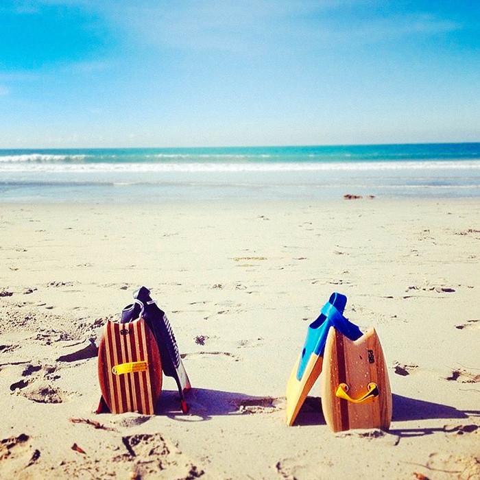 Morning bodysurfing —Beach