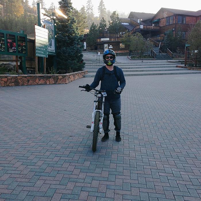 Hitting up the trails  —Big Bear