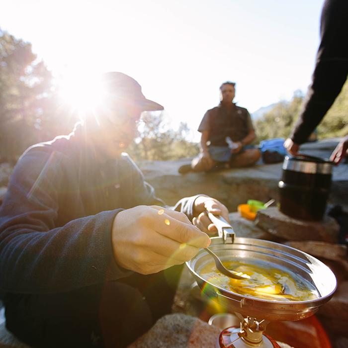 Making breakfast  — Chickenfoot Lake