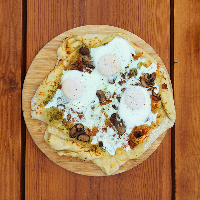 Pizza for breakfast  —Backyard