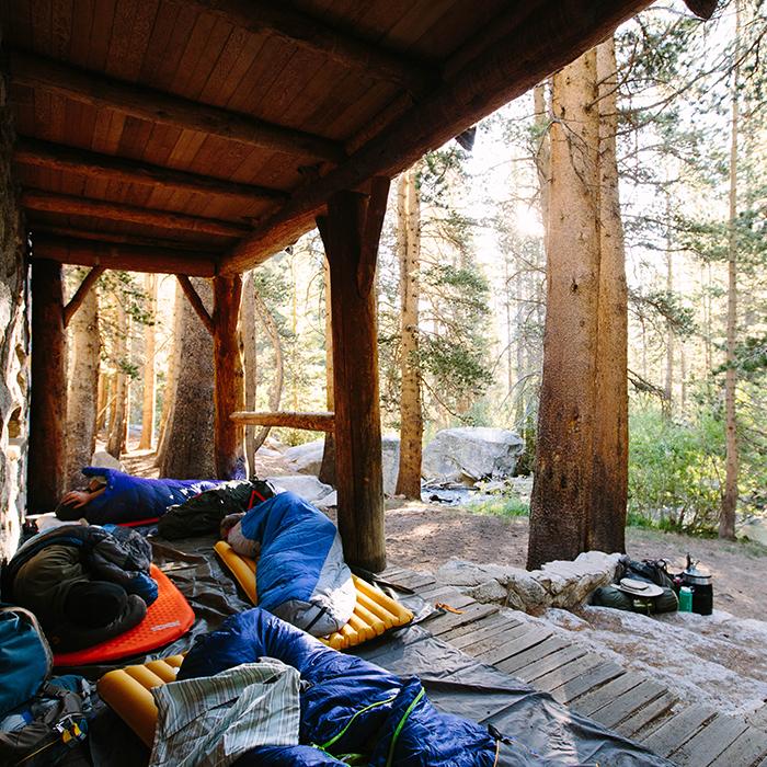 Sleeping in  —Lone Pine Cabin