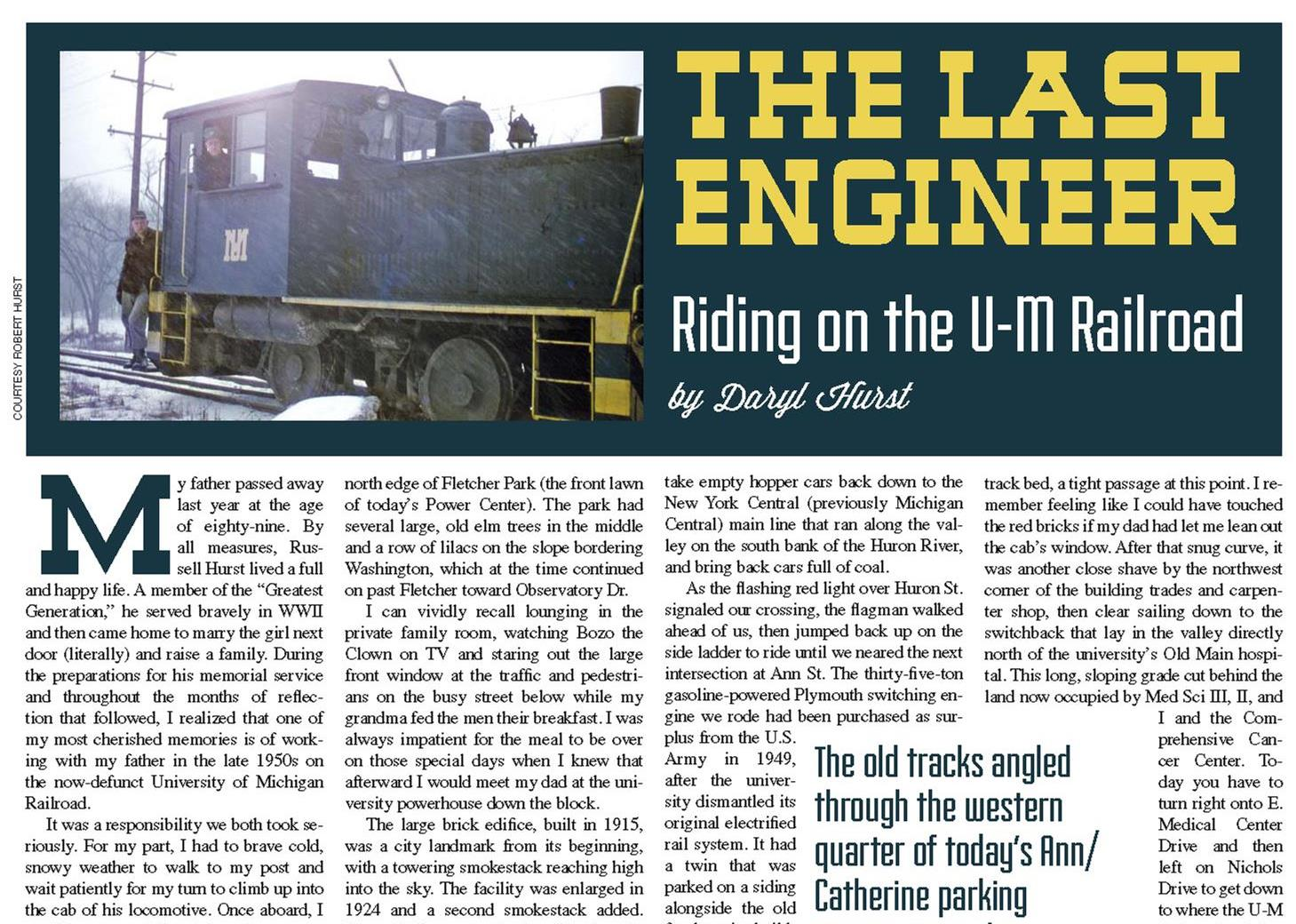 The Last Engineer  from the  May 2013  issue.