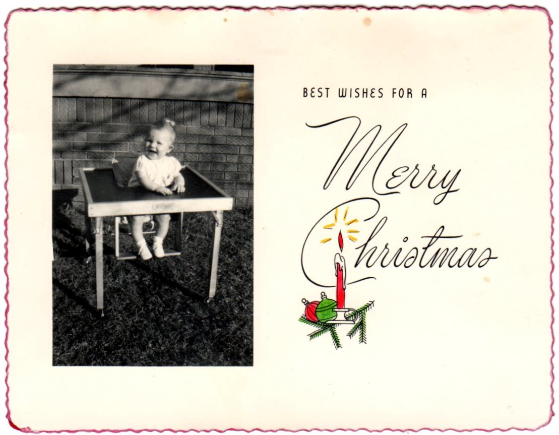 Russell Hurst Family Christmas Card 1948